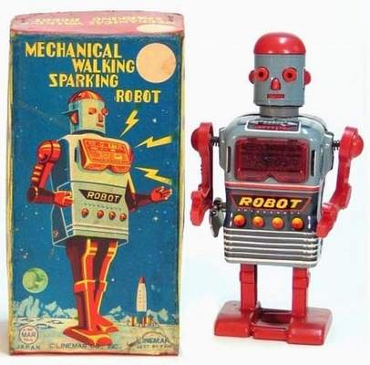 Mechanical Walking Sparkling Robot
