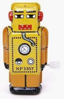 Mini Walking Robot Clockwork Mechanical