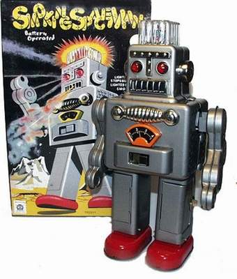 Smoking Spaceman Robot Silver